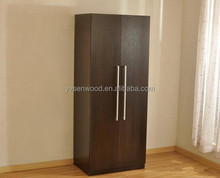 2-Door Chinese Antique Solid Wood Hall Wardrobe