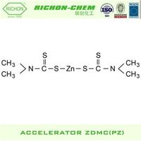 Rubber Auxiliary Agents Usage and Chemical Auxiliary Agent Chemical Formula C6H12N2S4Zn Rubber Accelerator ZDMC PZ