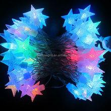 RGB auto color changing septangle shaped cheap led christmas lights