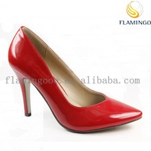 FLAMINGO 2015 LATEST ODM OEM latest high heel ladies pump shoes in china