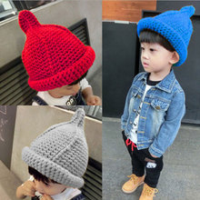 2015 new and fashion girl knitted baby winter crochet hat