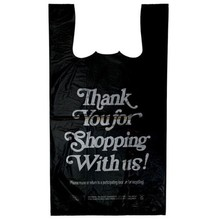 Wholesale 1/6 12x7.5x23 400/bx Retail T-Shirt Carry Out Plastic Thank You Bags carrier bag