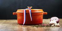 QULENO cast iron ceramic oil and vinegar set cast iron pot