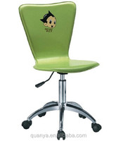 Green PU leather cover rotatable dining chair/Lift children chair