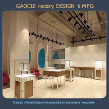 Famous branded wooden jewelry display furniture for shop