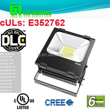 6 years warranty UL cUL (UL NO.E352762) DLC Out Door Led Flood Light