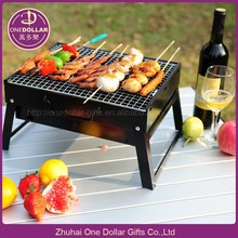 Mini Charcoal Grill Barbecue Bbq Outdoor Cooking Camping Seasoned Portable