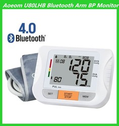 Medical Devices Bluetooth 4.0 Digital Upper Arm Type Blood Pressure Monitor for Hostipal or Home Use