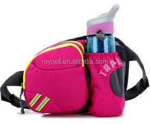 waterproof sport fanny pack / chest bag / waist bag with water bottle holder wholesale