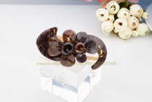 wholesale luxury Wide Comb French Beak Hair Clip with Teeth Tortoise shell Brown Quality flower big size Hair Accessories