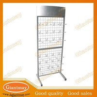 metal grid mesh back wire display stand