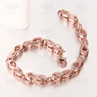 Exquisite fashion 18k rose gold jewellery bracelet hand chain for men