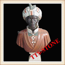 Hand Carved Stone Carving Bust with Africa black man
