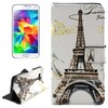 Cross Texture Flip Wallet cover case for Samsung Galaxy grand prime with cards slot