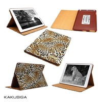 KAKU best leopard leather case for ipad 5 air/ for ipad 2 3 4/ mini 2 for hot selling