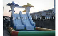 2015 summer exciting water sports jumbo water slide inflatable