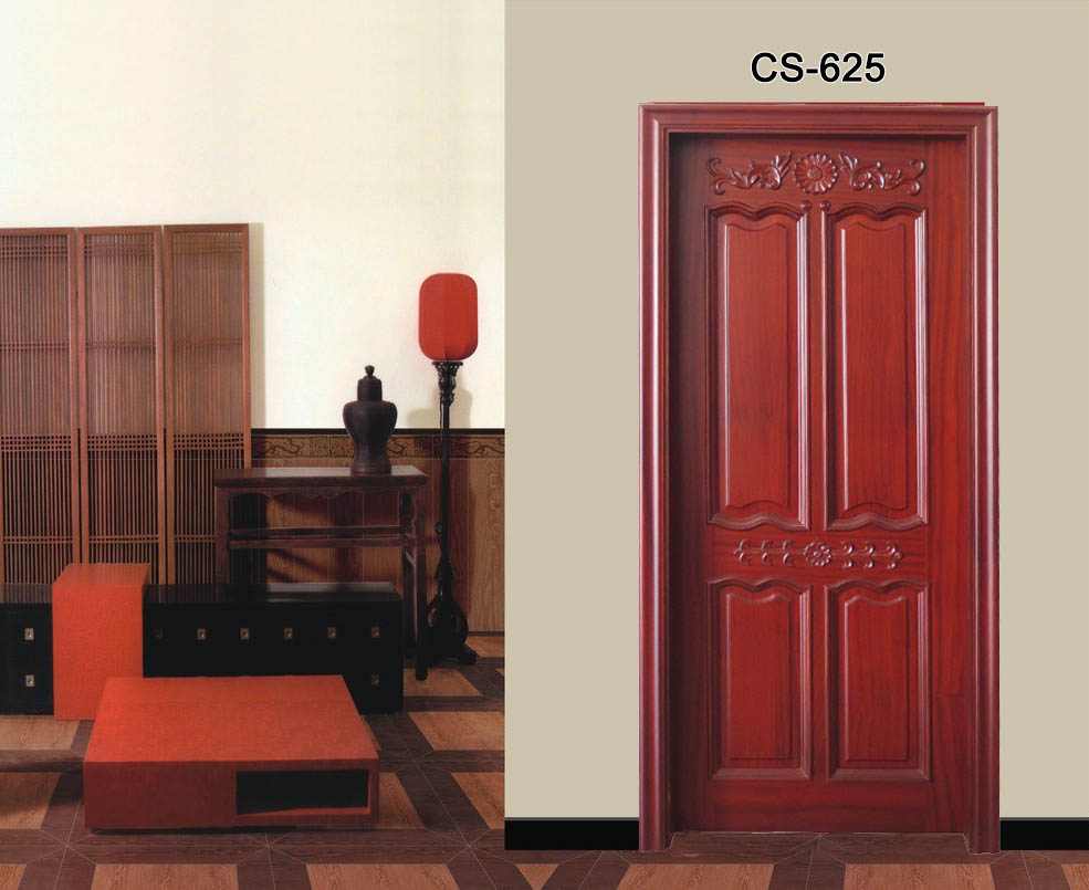 4 vertical solid wood flat teak wood main door designs for Main door design for flat