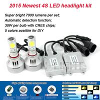 Newest 9005 led light car headlight 5600 lumen fan design copper materail replaces HID kit 5 colors available