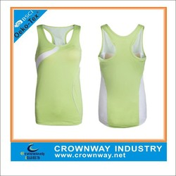 Lightweight lady's dry fit clothing polyester/spandex sports tops