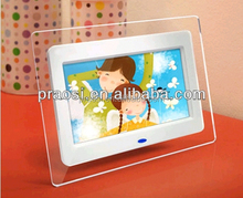motion sensor digital photo frame 7 inch with video loop auto play when person near