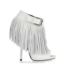 2015 mooco women fashion genuine leather shoes with tassels wholesale 416