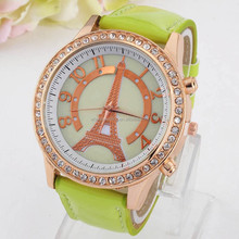 2015 new design hot eiffel tower lady watch for lover's gifts