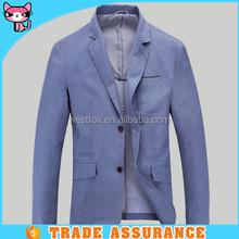 Navy Blue Linen Suit Jacket Sleeve Length