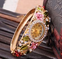 Colored diamond-studded bracelet women watch, jewelry watch wholesale in Yiwu(SWTPR1079)
