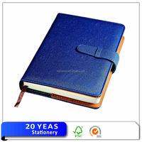 Customized pu leather 5 subject cute phone call notebook