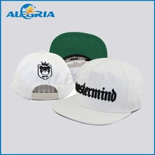 6-panel cotton baseball white hats