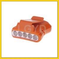 1.5W 5LED 50LM IPx4 1-Mode cheap White Lighted Cap / Hat Clip-on Lamp Flashlight (Orange)