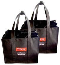 Recycled bottle wine bag, 6 bottles wine carrier bag, 6 pack wine bag