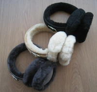 Merino sheepskin fur earmuff winter warm earmuff