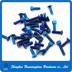 All kinds of colored m3 m4 m5 m6 m8 socket head cap wood aluminum screw
