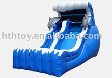 PVC inflatable dolphin water slide