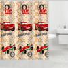 Red cars curtain design new model kids shower curtain , cartoon shower curtain