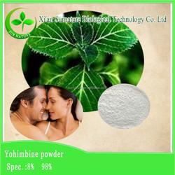 Supply Chinese herbal raw material Yohimbine Extract/Yohimbe Bark Extract(Yohimbine 2-98%)