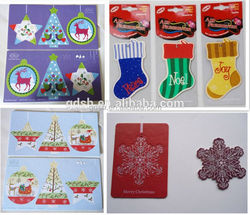 customized promotional paper air freshener, paper tye car perfume