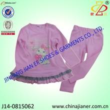 100% de algodón nuevos productos niñas de invierno niño ropa de la marca
