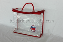 Hot sale!!! Customized plastic PVC christmas gift bag