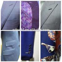 2015 new design formal man suits nice cut good shape blazers and men suit