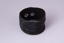 wholesale black rhinestone bracelet alibaba fashion leather bracelet jewelries crystal jewelry for men