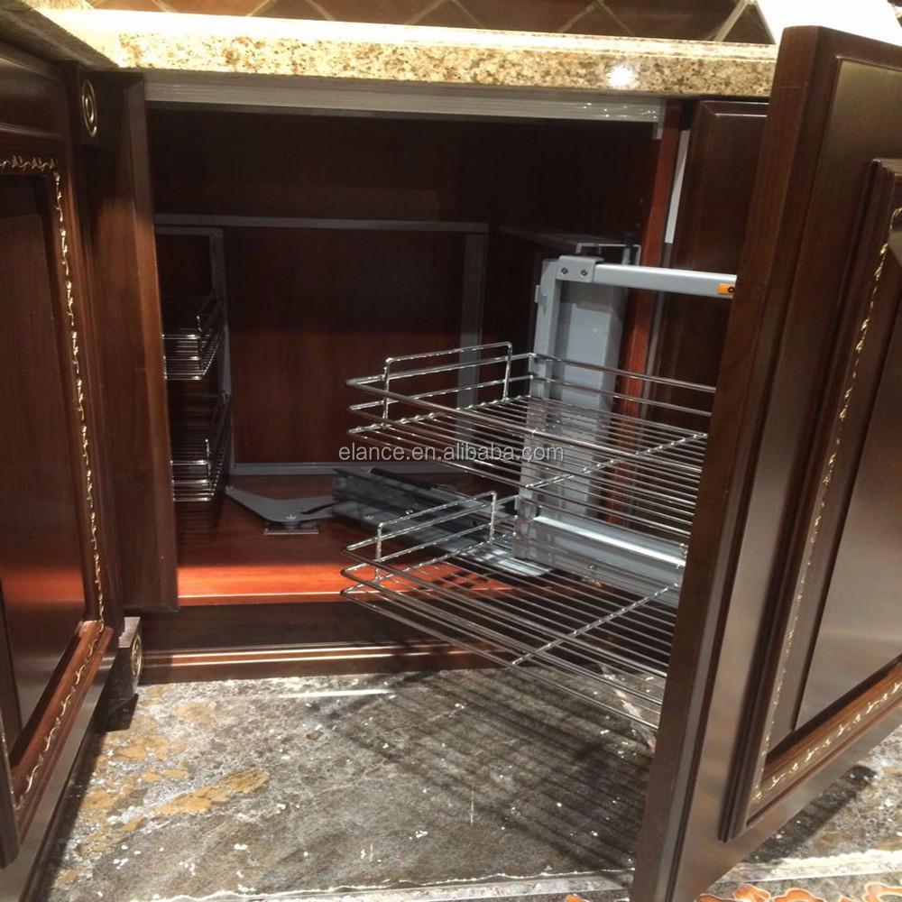 in stile americano di lusso in legno massello armadio da cucina ...