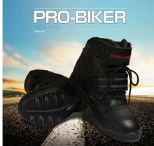 Wholesale Leather Breathable Waterproof Sports Riding Shoes Motorcycle Motocross Boots Motorbike Black Red White MOQ 1 Pair A005