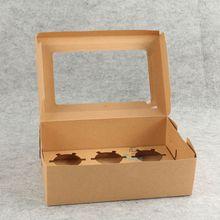 Window cupcake packaging kraft box insert