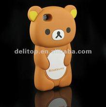 Cute 3D Rilakkuma Bear Hard Back Case Cover Skin For Apple iPhone 4 4S