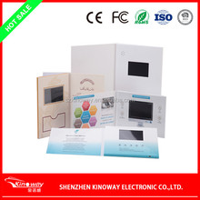 LCD video brochure card OEM 3.5 inch SD video card video advertising brochure for Wedding/business use