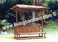 NHA TRANG BEACH BAMBOO BENCH CHAIR WITH ROOF