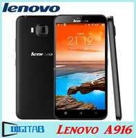 Original A916 Lenovo 4G LTE Phone MTK6592 Octa Core Android 4.4 Mobile Phone 5.5 inch HD IPS 1280x720 Screen 13.0MP SmartPhone