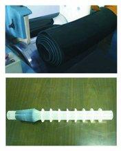 Conductive solid silicone rubber for insulator terminals